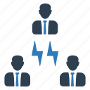 electric, energy, team, teamwork connectivity, users icon