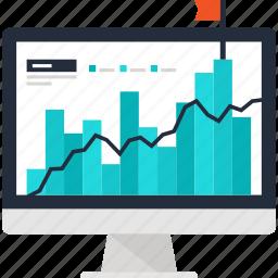 analysis, analytics, chart, computer, graph, ipo, statistics icon