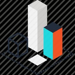 3d, box, design, development, digital, modeling, plan icon