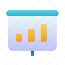 meeting, presentation, bar, chart