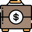 briefcase, business, case, documents, financial, money, suit case