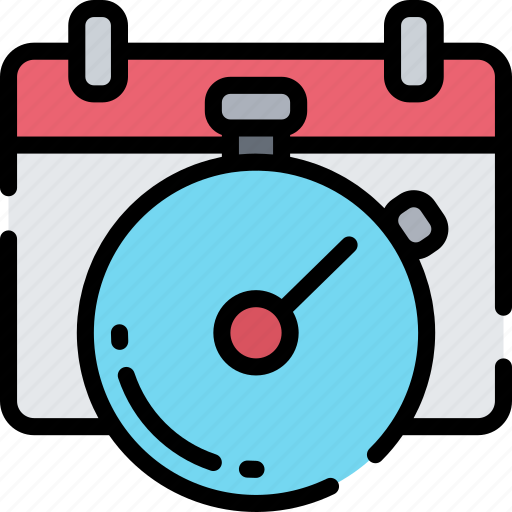 Business, clock, deadlines, schedule, time keeping icon - Download on Iconfinder