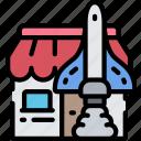 business, launch, market, rocket, shop, start up icon