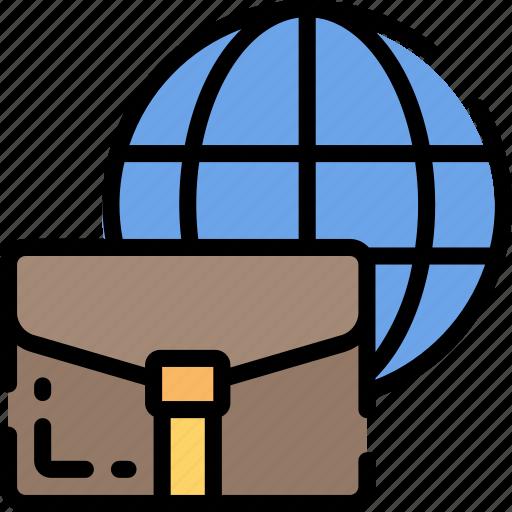 business, finances, global, internet, world wide icon