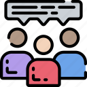 business, conference, employee, feedback, team icon