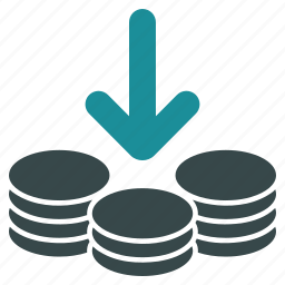 cash, coins, currency, income, money, stack, treasure icon