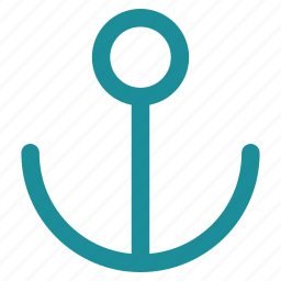 anchor, link, marine, nautical, port, sea, seo icon