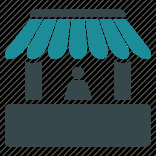 booth, hut, kiosk, market, sale, seller, shop icon