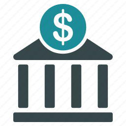 bank, building, business, dollar, finance, money, payment icon