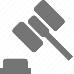 auction, gavel, hammer icon