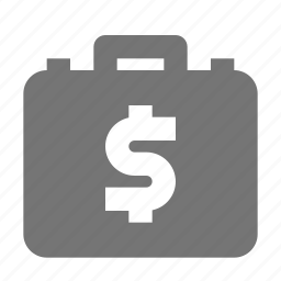 briefcase, money icon