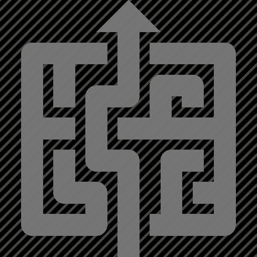 arrow, business, maze, navigate icon