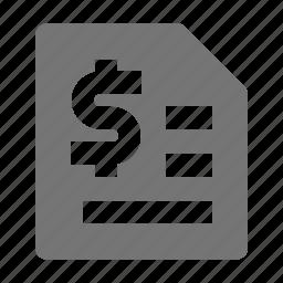 money, receipt icon