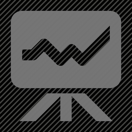 graph, projector icon