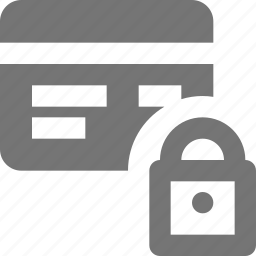 credit card, lock, security icon