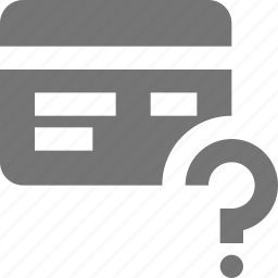 credit card, help, question icon