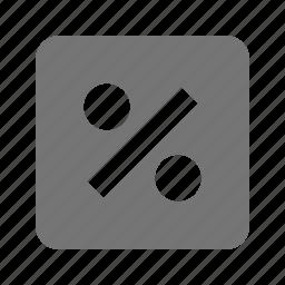 percent, percentage icon