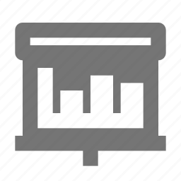 graph, projector, screen icon