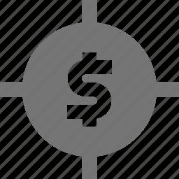 money, target icon