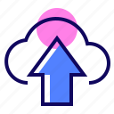 arrow up, backup, cloud, upload icon