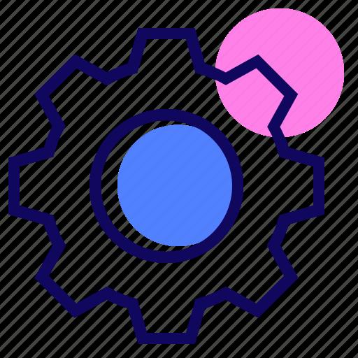 cogwheel, functions, gear, generic icon
