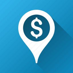 bank, financial pointer, gps, location, map marker, navigation, pin icon