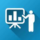 bar chart, busines report, diagram, graphs, lecture, presentation, project icon