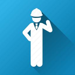 architect, builder, developer, engineer, engineering, safety, worker icon