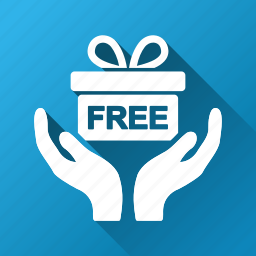 donate, gift, give, giving, hands, offer, present icon