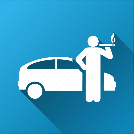 car, smoke cigarette, taxi driver, transport, transportation, travel, wait icon