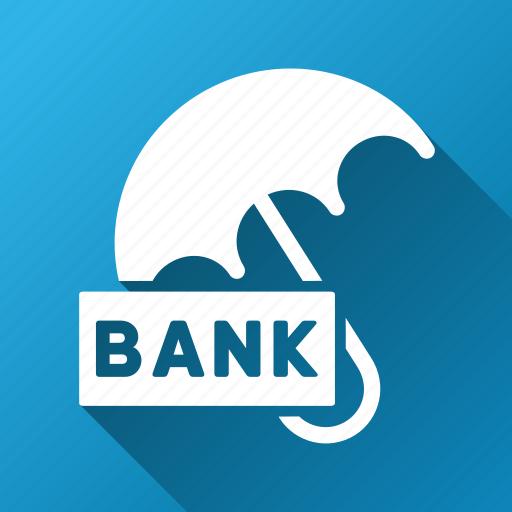 bank deposit, comfort, finance, insurance, protection, safety, umbrella icon