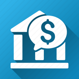 bank, chat, communication, message, money, payment, transaction icon