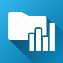 charts, documents, file, folder, graph, report, statistics icon