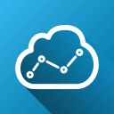 analysis, analytics, cloud, graph, report, statistics, trend icon