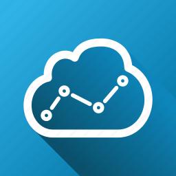 analysis, analytics, cloud, graph, report, statistics, trend icon