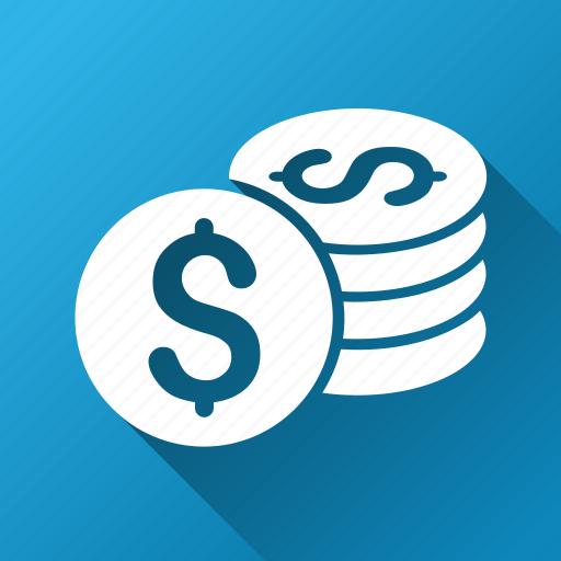 bank, business, cash, dollar coins, finance, money, payment icon
