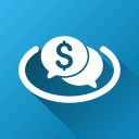 auction, chat, communication, finance, financial, market, network icon
