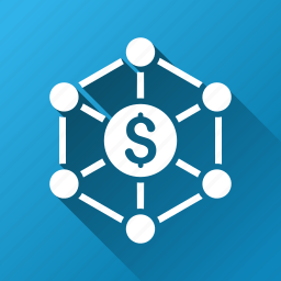 bank links, finance, financial center, graph, network, scheme, system structure icon
