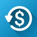 chargeback, money back, refund, restore, return, reverse, revert transaction icon