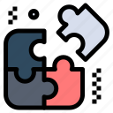 business, pieces, puzzle icon