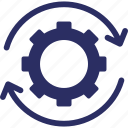 chain, cog chain, combination, integration, work chain icon