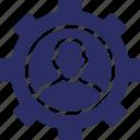 avatar, cogwheel, gearwheel, personal settings, settings