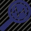 analysis, graph, predictive analytics, search, statistics icon