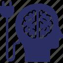 abilities, capability, intelligence, mind power, user capacity icon