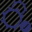 cogs, configuration, maintenance, repair, settings icon