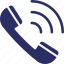 communication, phone ringing, call, receiver, calling icon