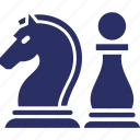 chess knight, chess paws, chess strategy, mastery, strategy