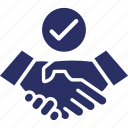approved, commitment, deal, partnership, shakehand icon