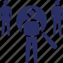 find staff, job, personnel, recruitment, search icon