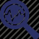 analytics, diagnostics, magnifier, optimization, seo icon